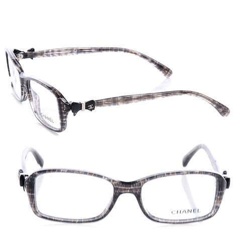 chanel tweed bow glasses 3211 frames grey 63520