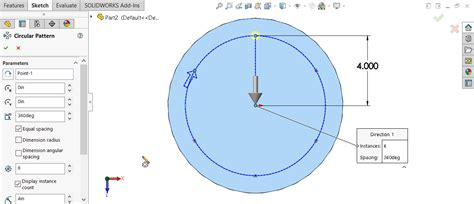 pattern a sketch solidworks solidworks hole wizard with circular sketch pattern