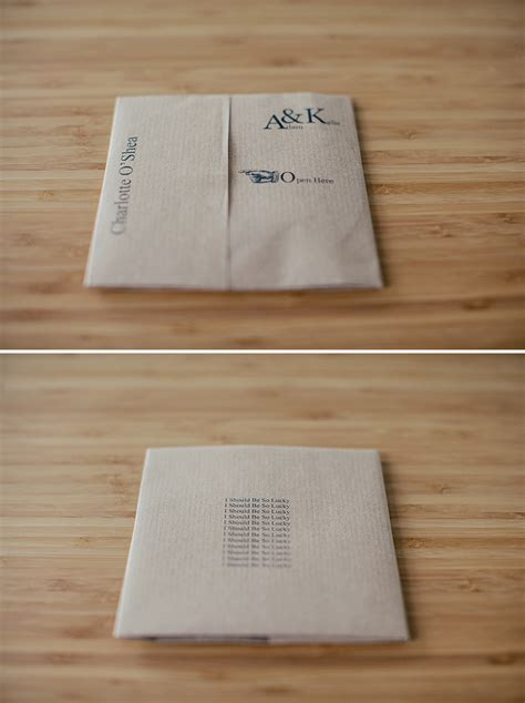 How To Make Cd Out Of Paper - diy cd favour place setting for your wedding