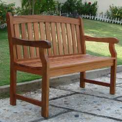 vifah outdoor furniture wood garden bench reviews wayfair