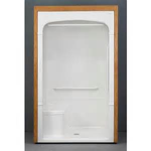 mirolin barrier free 1 shower stall with molded seat