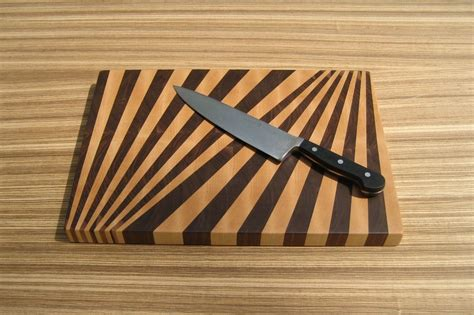 pattern wood cutting board fan pattern end grain cutting board 1337motif