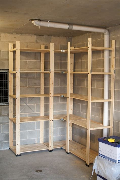 how to build wood storage shelves garage