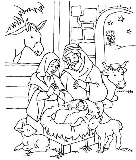 jesus is born nativity coloring page best 25 colouring pages ideas on pinterest colouring