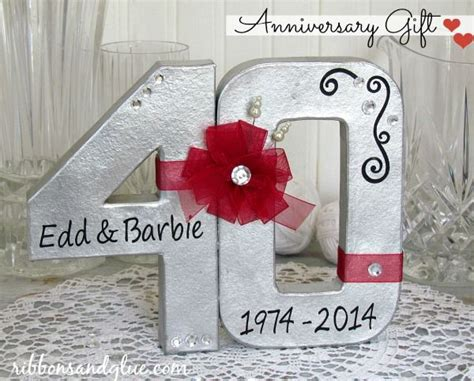 Wedding Anniversary Number Gifts by Wedding Anniversary Gifts 40th Wedding Anniversary Gifts