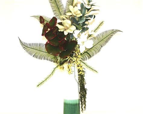 artificial floral arrangements handmade tropical decor large silk flower arrangement