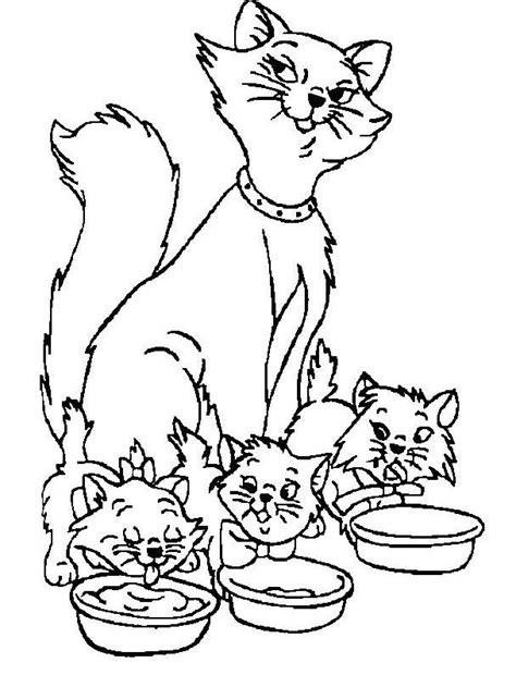 coloriage de chaton a imprimer az coloriage coloriage maman chat et ses chatons