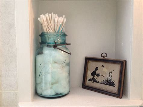 cotton ball jar bathroom the farmer s wife in canning jar cotton ball and q tip