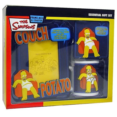 couch potato gifts simpsons homer couch potato gift set character usa