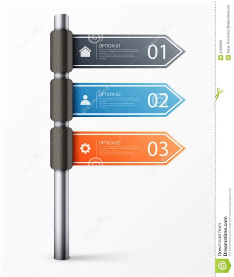 Modern Road Sign Design Template For Infographics Stock Vector Illustration 31566655 Free Sign Design Templates