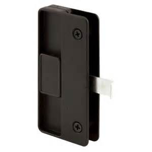 prime line sliding screen door latch and pull black