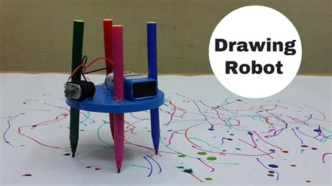 make a home how to make a simple drawing scribbling robot at home
