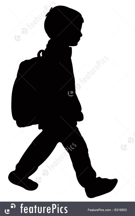 student silhouette vector stock illustration