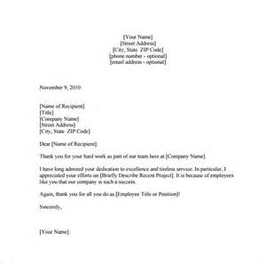 employee thank you letter template 20 free word pdf