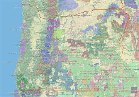 map of oregon lands oregon chapter club