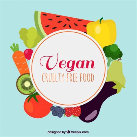 new year 7 vegetables delicious vegan food background vector free