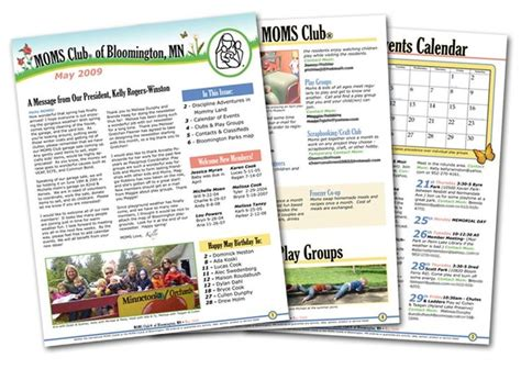 club newsletter templates 8 best images on yard sales fundraising