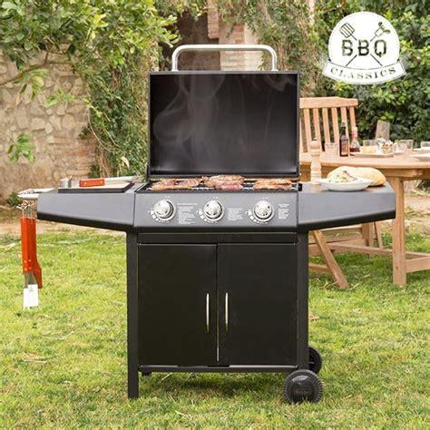 barbecue terrazzo barbecue a gas con grill vaggan 1857k bbq 3 fornelli