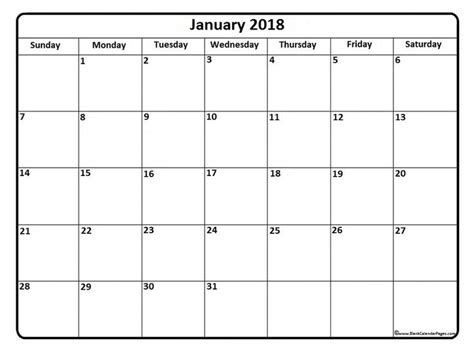 templates for pages calendar january 2018 calendar january 2018 calendar printable
