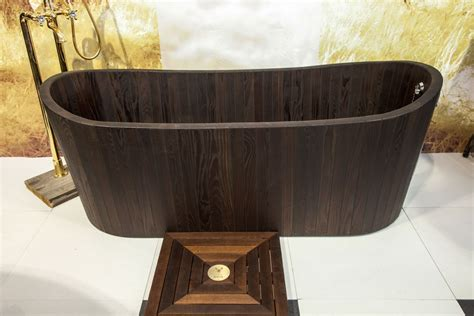 wood bathtub wooden bathtubs a delight for the senses and your home decor