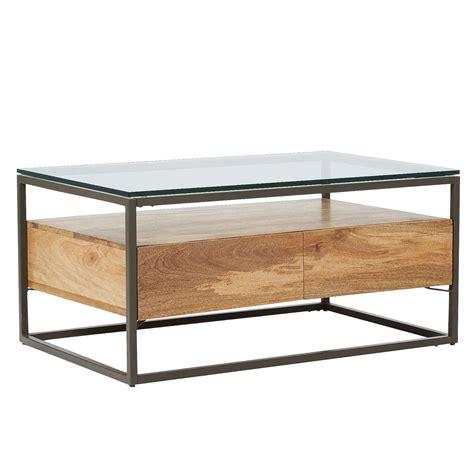 elm box frame coffee table elm industrial storage box frame coffee table at