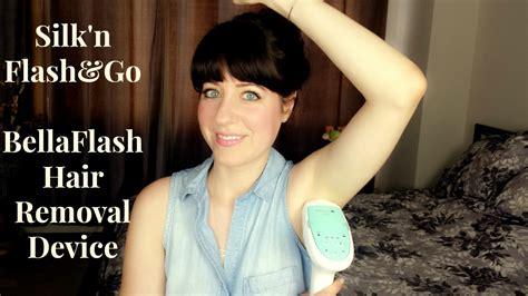 me vs flash n go silk n flash go bellaflash hair removal device youtube