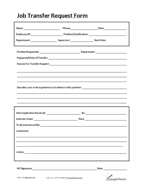 employee transfer form up letter exles sle resume for budget analyst