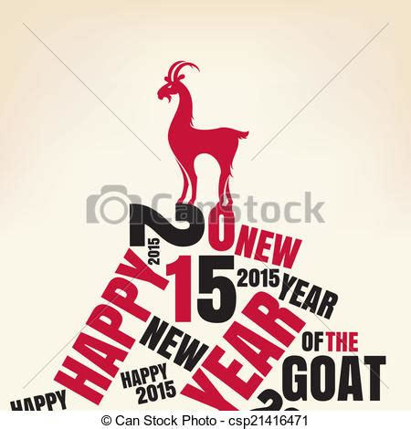 new year goat illustration vectors illustration of new year greeting card with goat