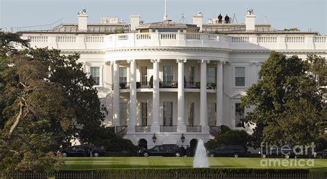 United States White House United States White House And Presidential Motorcade