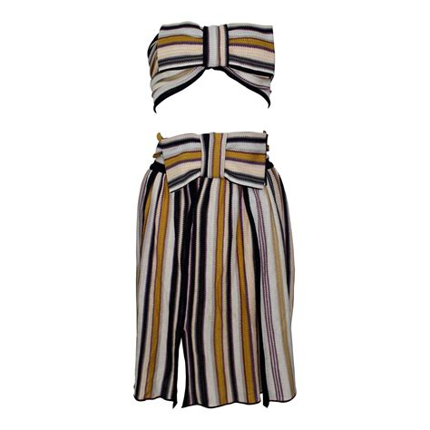 To The Bring A Missoni Bandeau Dress by Missoni Bow Bandeau Top And Matching Skirt Ensemble For