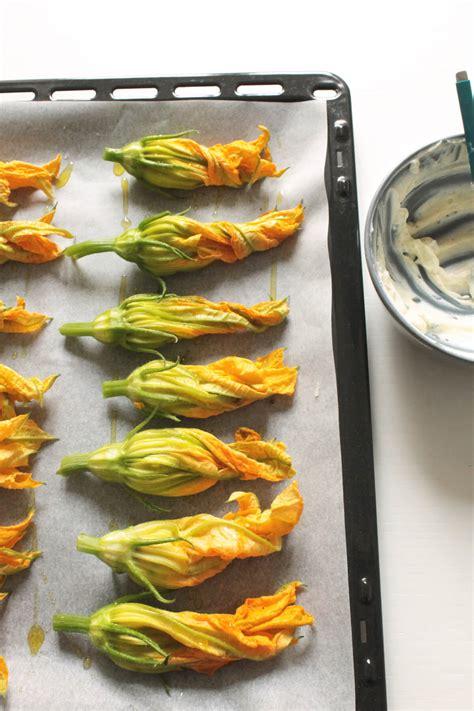 ricetta fiori di zucca al forno fiori di zucca al forno con ricotta healthy barta