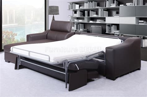 leather sectional sofa bed homeofficedecoration leather sleeper sectional sofa bed