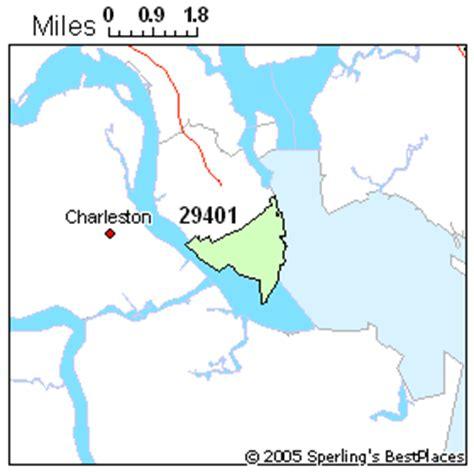 zip code map charleston sc best place to live in charleston zip 29401 south carolina