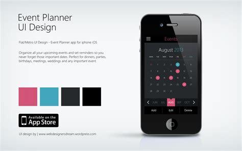 design event app event planner metro style ui design for apple iphone ios
