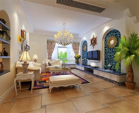 mediterranean style interior design creative tv wall mediterranean style interior design