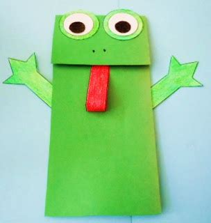 Paper Bag Arts And Crafts - learning ideas grades k 8 frog paper bag puppet crafts
