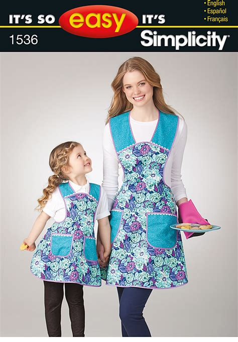 easy simplicity apron pattern simplicity 1536 it s so easy child s and misses apron
