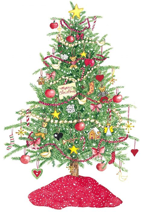 christmas tree art cliparts co