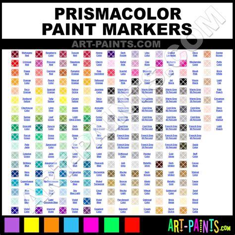prismacolor marker color chart prismacolor marker color chart