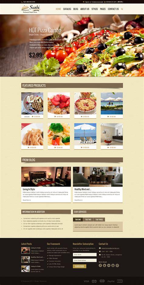 shopify india themes sushi food restaurant shopify theme on pantone canvas