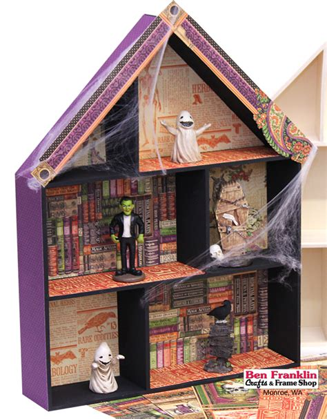 How To Make A Paper Haunted House - ben franklin crafts and frame shop wa diy