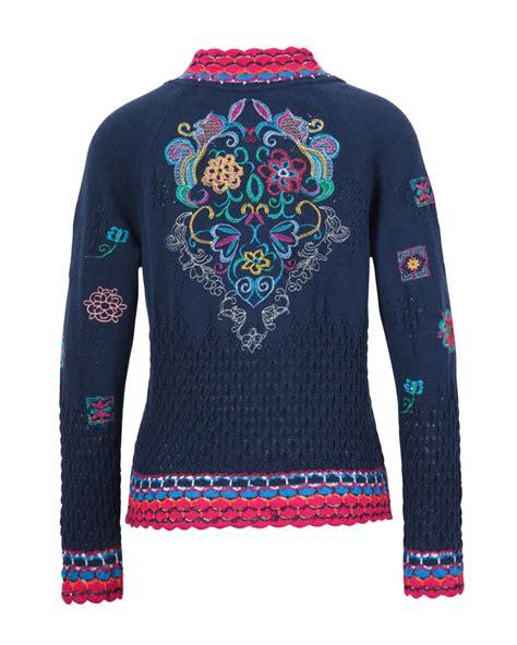embroidery jacket ivko jacket with embroidery 81614 marine blue canada us