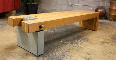 concrete and wood bench concrete bench by architectural concrete interiors