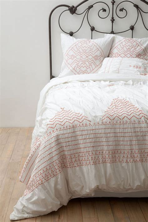 anthropology bed 492 nip anthropologie corin queen duvet cover 4 shams
