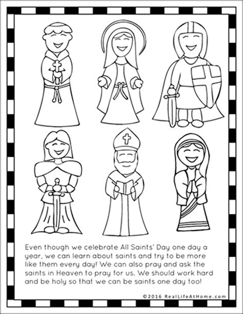 saints printables and worksheet packet all saints day