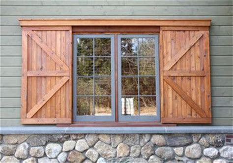 Barn Doors With Windows Ideas Sliding Barn Exterior Window Shutters Search Exterior Diy Pinterest Window