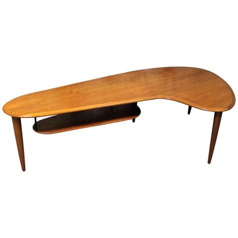 Boomerang Coffee Table Teak Boomerang Coffee Table At 1stdibs