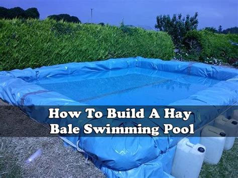 how to build a hay bale swimming pool pool tarp gallery