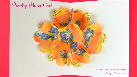 Origami Flower Pop Up Card - flower pop up card 187 origamitree