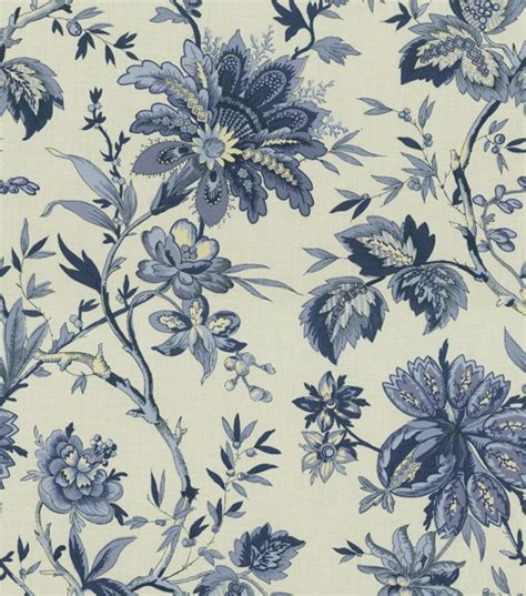 home decor material home decor print fabric waverly felicite indigo jo ann